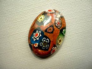 Minerály - Skleněný kabošon - millefiori, č.48f - 9672265_