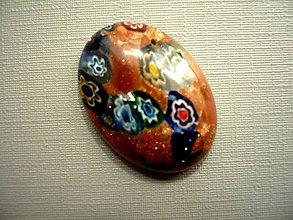 Minerály - Skleněný kabošon - millefiori, č.50f - 9672278_