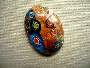 Minerály - Skleněný kabošon - millefiori, č.51f - 9672280_