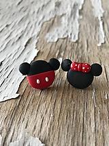 Náušnice - myšací párik-napichovačky - 9669750_