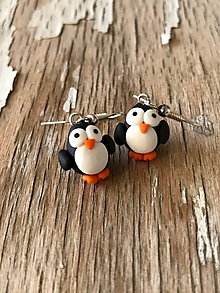 Náušnice - tučniačiky - 9669727_
