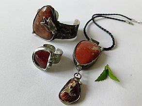 Sady šperkov - Set z červeného jaspisu - tiffany - 9674795_