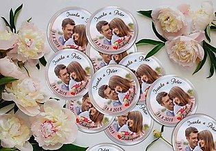 Darčeky pre svadobčanov - Svadobná magnetka - 9674026_
