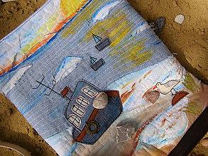 Veľké tašky - taško-kabelka riflová - 9674063_