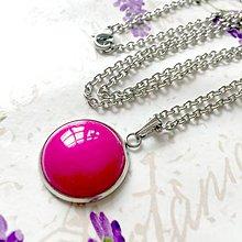 Náhrdelníky - Pink Jade Necklace (Stainless Steel) / Náhrdelník s ružovým jadeitom (Chirurgická oceľ) /0161 - 9673743_
