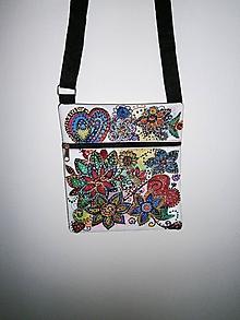 Taštičky - lelka kabelka folková-kvetinová 10 - 9672895_