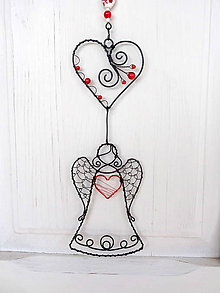 Dekorácie - srdce anjela...girlanda - 9673111_