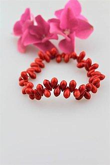 Náramky - červený koral náramok - 9674680_