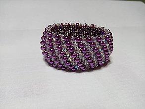 Náramky - Lilac pearl náramok - 9673796_