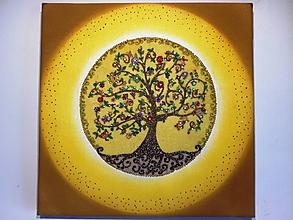 Obrazy - Strom života (sypaný pieskom) - 9673598_