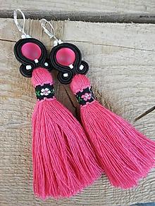 Náušnice - Pink folk - 9672790_
