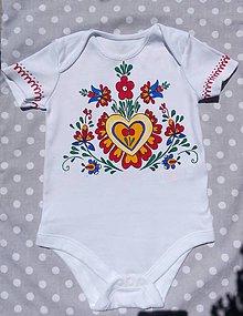 Detské oblečenie - Folklórne body - 9673866_