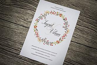 """Papiernictvo - Svadobné oznámenie """"Jesenná láska"""" - 9672928_"""