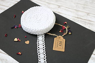 Galantéria - Bavlnená biela čipka - 9674570_