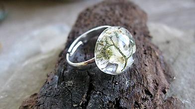 Prstene - Živicový prsteň s kvietkami (biele nezábudky č. 2246) - 9673566_