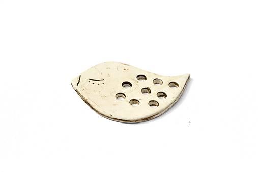 Keramická brošňa Vtáčik Dorotka