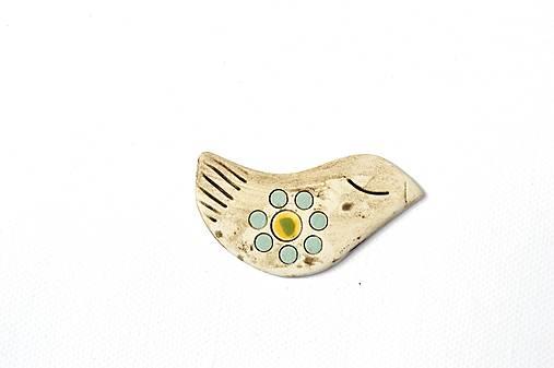 Keramická brošňa Vtáčik Jarka