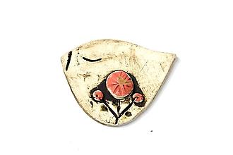 Odznaky/Brošne - Keramická brošňa Vtáčik Lucka - 9673308_
