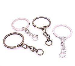 Komponenty - Kľúčenky na dozdobenie mosadz - 9674012_