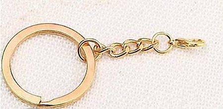 Komponenty - Kľúčenky na dozdobenie zlaté s karabínkou - 9674017_