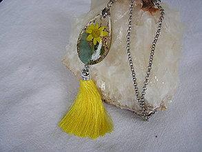 Náhrdelníky - Orgonit-Prívesok žltý kvet s avanturínom - 9674713_