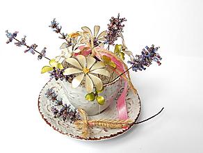 Dekorácie - Šálka kvetov - 9673128_