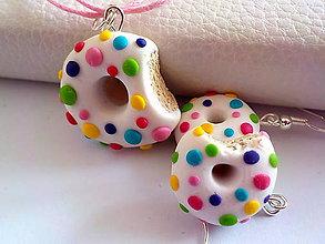 Sady šperkov - dúhove donutky (sada) - 9673024_