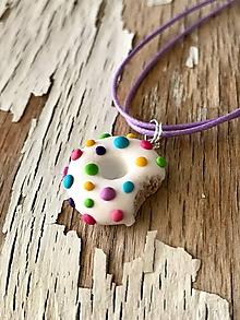 Sady šperkov - dúhove donutky (prívesok) - 9673033_