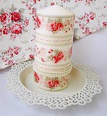 Svietidlá a sviečky - Sviečka ružičková - 9675313_