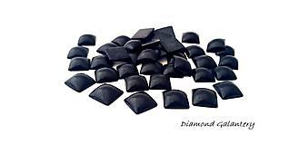 Komponenty - Ozdobné kamienky 10x10 mm - čierne - 9676591_