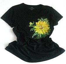 Tričká - Žltý kvet - 9676080_