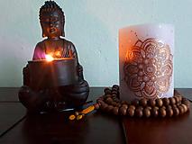 Svietidlá a sviečky - Ružová láska - 9677641_