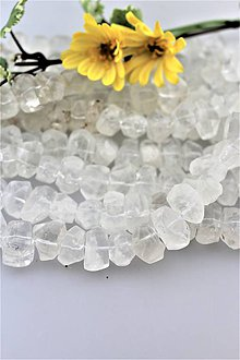 Minerály - horský krištál korálky - brúsené nugety 10x14-12x16mm - 9677263_