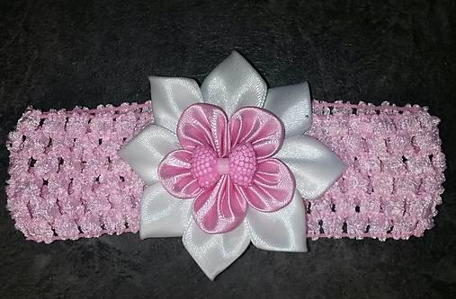 a90c6a5dda9 Detská elastická čelenka s mašličkou (na ružovej čelenke ...