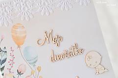 Papiernictvo - Zápisník pre bábätko / dievčatko - 9675651_