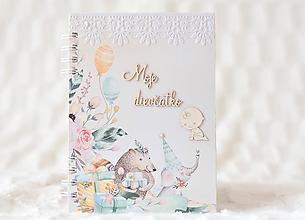 Papiernictvo - Zápisník pre bábätko / dievčatko - 9675649_