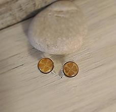 """Šperky - Manžetové gombíky """"Štvorlístok"""" (mini) - 9676005_"""