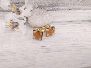 "Šperky - Manžetové gombíky ""Štvorlístok"" (zlaté) - 9676021_"