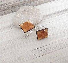 """Šperky - Manžetové gombíky """"Štvorlístok"""" (strieborné) - 9676031_"""