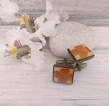 """Šperky - Manžetové gombíky """"Štvorlístok"""" (starobronz) - 9676105_"""