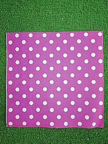 Papier - Biele bodky na cviklovom - 9677330_