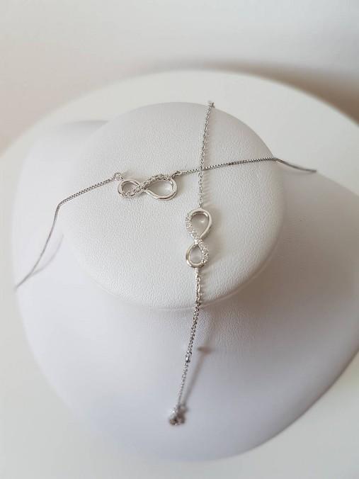 614d8a75d Náhrdelník Infinity biele zlato / Motivo - SAShE.sk - Handmade ...