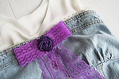 Mašľa Ambrózia - brošňa tmavo fialová, ruža