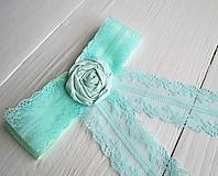 Mašľa Angelika - svetlý tyrkys, ruža, bow
