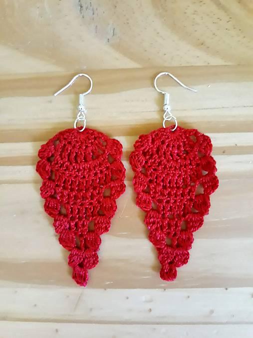 Háčkované folk náušnice červené   CrochetEve - SAShE.sk - Handmade ... 288aa2fada6
