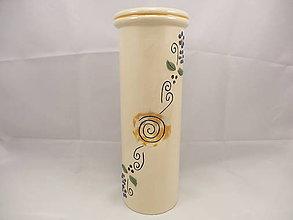 Dekorácie - Váza veľká B (Váza okrúhla vzor 1) - 9675744_