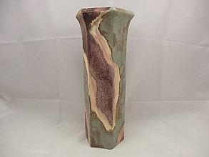 Dekorácie - Váza veľká B (Váza 6hran vzor 4) - 9675943_