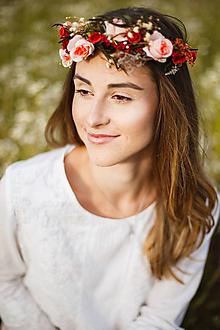 Ozdoby do vlasov - Kvetinový polvenček z kolekcie
