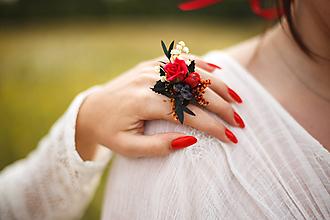 Prstene - Kvetinový prstienok z kolekcie