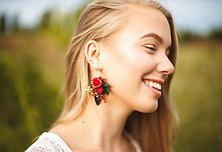 """Náušnice - Kvetinové náušnice z kolekcie """"krása ženy"""" - 9676843_"""